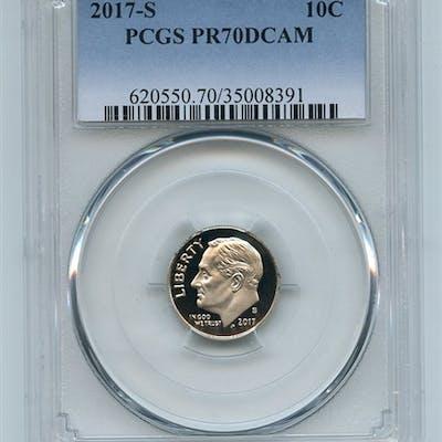 2017 S 10C Clad Roosevelt Dime PCGS PR70DCAM coin