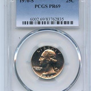 1970 S 25C Washington Quarter PCGS PR69 coin
