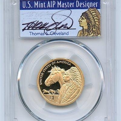 2012 S $1 Sacagawea Dollar PCGS PR69DCAM Thomas Cleveland coin