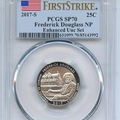 2017 S 25C Frederick Douglass Quarter Enhanced PCGS SP70 First Strike coin
