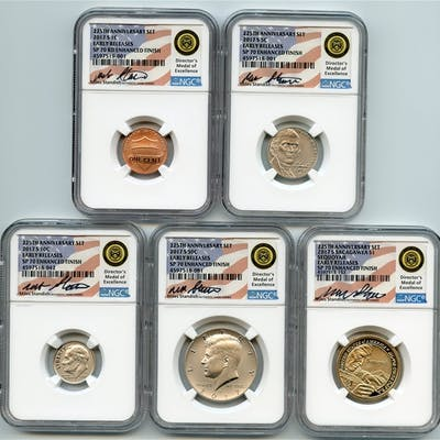 2017 S Enhanced Uncirculated Minor Set (5 coins) NGC SP70 Miles Standish coin