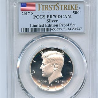 2017 S 50C Silver Kennedy Half Dollar PCGS PR70DCAM First Strike Limited