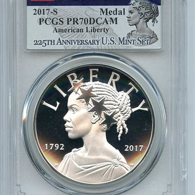 2017 S Silver American Liberty Medal Proof PCGS PR70DCAM First Strike coin