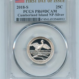 2018 S 25C Silver Cumberland Gap Quarter PCGS PR69DCAM First Day of Issue FDOI