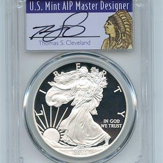 2010 W $1 Proof American Silver Eagle 1oz PCGS PR70DCAM Thomas Cleveland