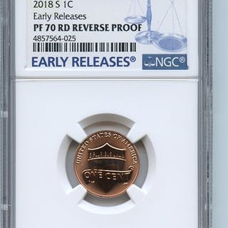 2018 S 1C Reverse Proof 50th Anniversary Lincoln Cent NGC PR70 Early Releases
