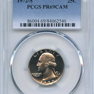 1972 S 25C Washington Quarter PCGS PR69CAM