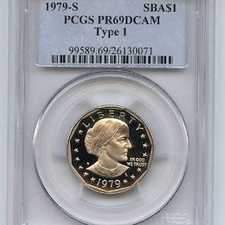 1979 S $1 T1 SBA Susan B Anthony Dollar Proof PCGS PR69DCAM
