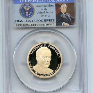 2014 S $1 Franklin D Roosevelt Dollar PCGS PR70DCAM