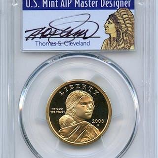 2006 S $1 Sacagawea Dollar PCGS PR69DCAM Thomas Cleveland