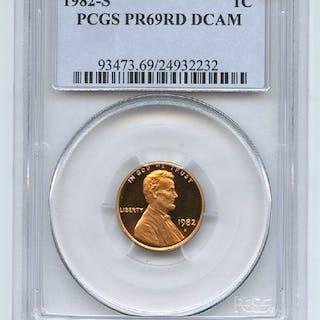 1982 S 1C Lincoln Cent Proof PCGS PR69DCAM