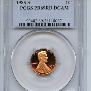 1985 S 1C Lincoln Cent Proof PCGS PR69DCAM