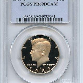 1987 S 50C Kennedy Half Dollar Proof PCGS PR69DCAM