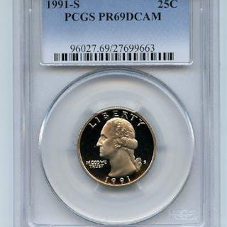 1991 S 25C Washington Quarter Proof PCGS PR69DCAM