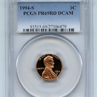 1994 S 1C Lincoln Cent Proof PCGS PR69DCAM