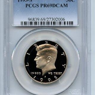 1995 S 50C Kennedy Half Dollar Proof PCGS PR69DCAM