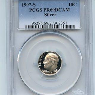 1997 S 10C Silver Roosevelt Dime Proof PCGS PR69DCAM