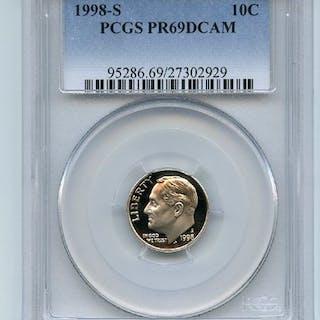 1998 S 10C Roosevelt Dime Proof PCGS PR69DCAM