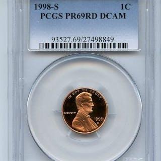 1998 S 1C Lincoln Cent Proof PCGS PR69DCAM