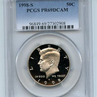 1998 S 50C Kennedy Half Dollar Proof PCGS PR69DCAM