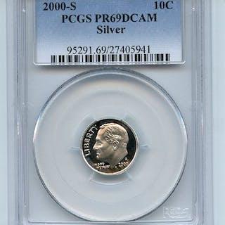 2000 S 10C Silver Roosevelt Dime PCGS PR69DCAM