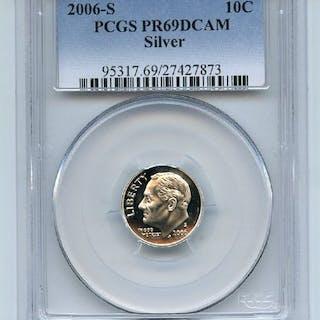 2006 S 10C Silver Roosevelt Dime PCGS PR69DCAM