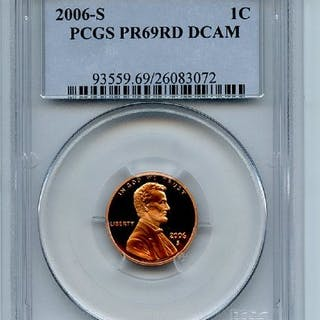 2006 S 1C Lincoln Cent PCGS PR69DCAM