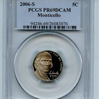 2006 S 5C Jefferson Nickel PCGS PR69DCAM