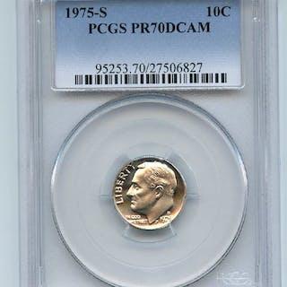 1975 S 10C Roosevelt Dime Proof PCGS PR70DCAM