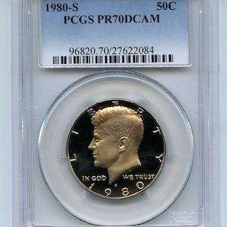 1980 S 50C Kennedy Half Dollar Proof PCGS PR70DCAM