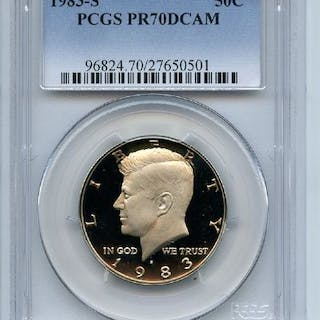 1983 S 50C Kennedy Half Dollar Proof PCGS PR70DCAM