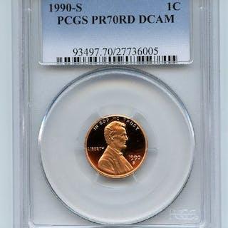 1990 S 1C Lincoln Cent Proof PCGS PR70DCAM
