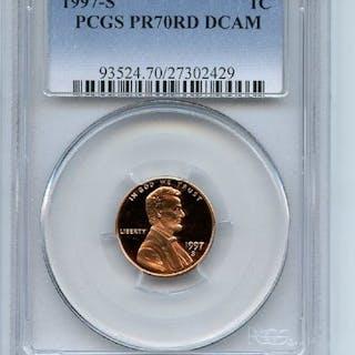 1997 S 1C Lincoln Cent Proof PCGS PR70DCAM