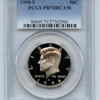 1998 S 50C Kennedy Half Dollar Proof PCGS PR70DCAM