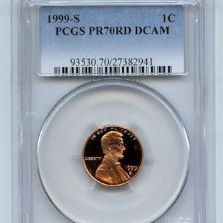 1999 S 1C Lincoln Cent PCGS PR70DCAM