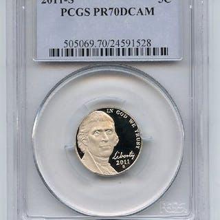 2011 S 5C Jefferson Nickel PCGS PR70DCAM