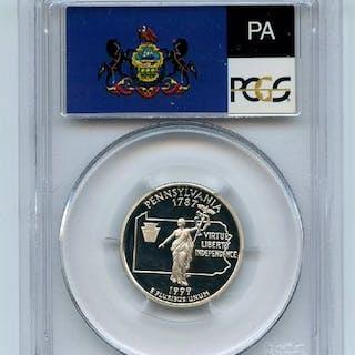 1999 S 25C Silver Pennsylvania Quarter PCGS PR70DCAM