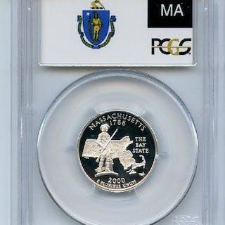 2000 S 25C Silver Massachusetts Quarter PCGS PR70DCAM