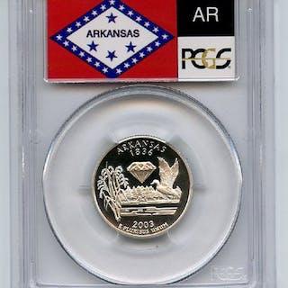 2003 S 25C Silver Arkansas Quarter PCGS PR70DCAM