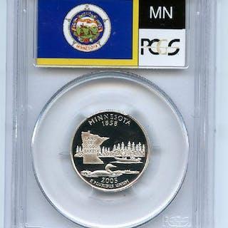 2005 S 25C Silver Minnesota Quarter PCGS PR70DCAM