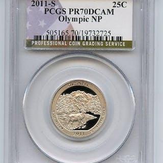 2011 S 25C Clad Olympic Quarter PCGS PR70DCAM
