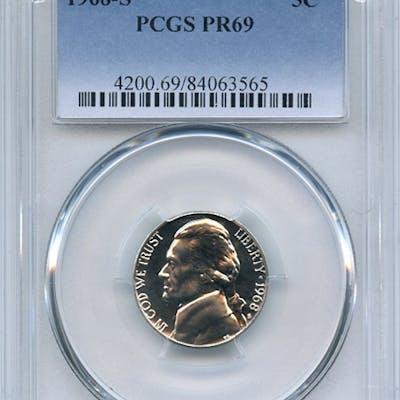 1968 S 5C Jefferson Nickel PCGS PR69 coin