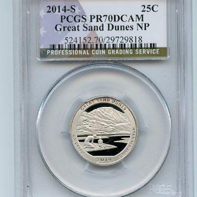 2014 S 25C Clad Great Sand Dunes Quarter PCGS PR70DCAM coin