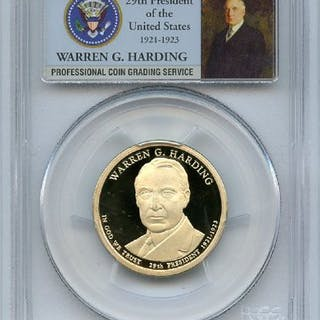 2014 S $1 Warren G Harding Dollar PCGS PR70DCAM