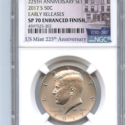 2017 S 50C Kennedy Half Dollar Enhanced NGC SP70 Early Releases coin