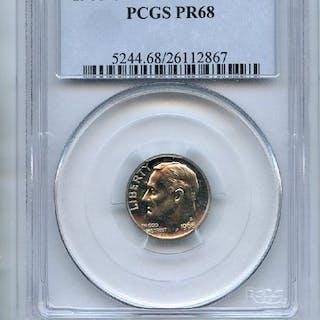 1968 S 10C Roosevelt Dime PCGS PR68 coin