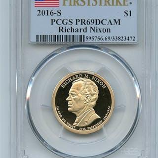 2016 S $1 Richard Nixon Dollar PCGS PR69DCAM First Strike