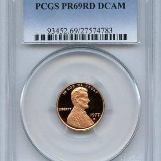 1977 S 1C Lincoln Cent Proof PCGS PR69DCAM coin