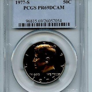 1977 S 50C Kennedy Half Dollar Proof PCGS PR69DCAM coin