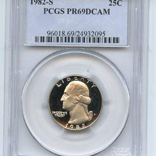 1982 S 25C Washington Quarter Proof PCGS PR69DCAM coin